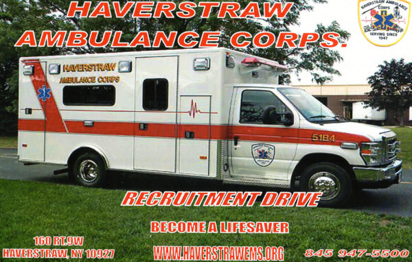 Volunteer with the Haverstraw Ambulance Corps, Haverstraw, NY